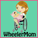 Wheeler Mom Button